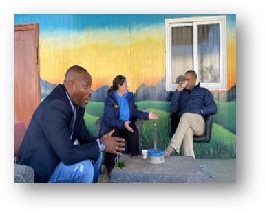Close-up on the practical training with H.E  Mr. Mambo Makwelele