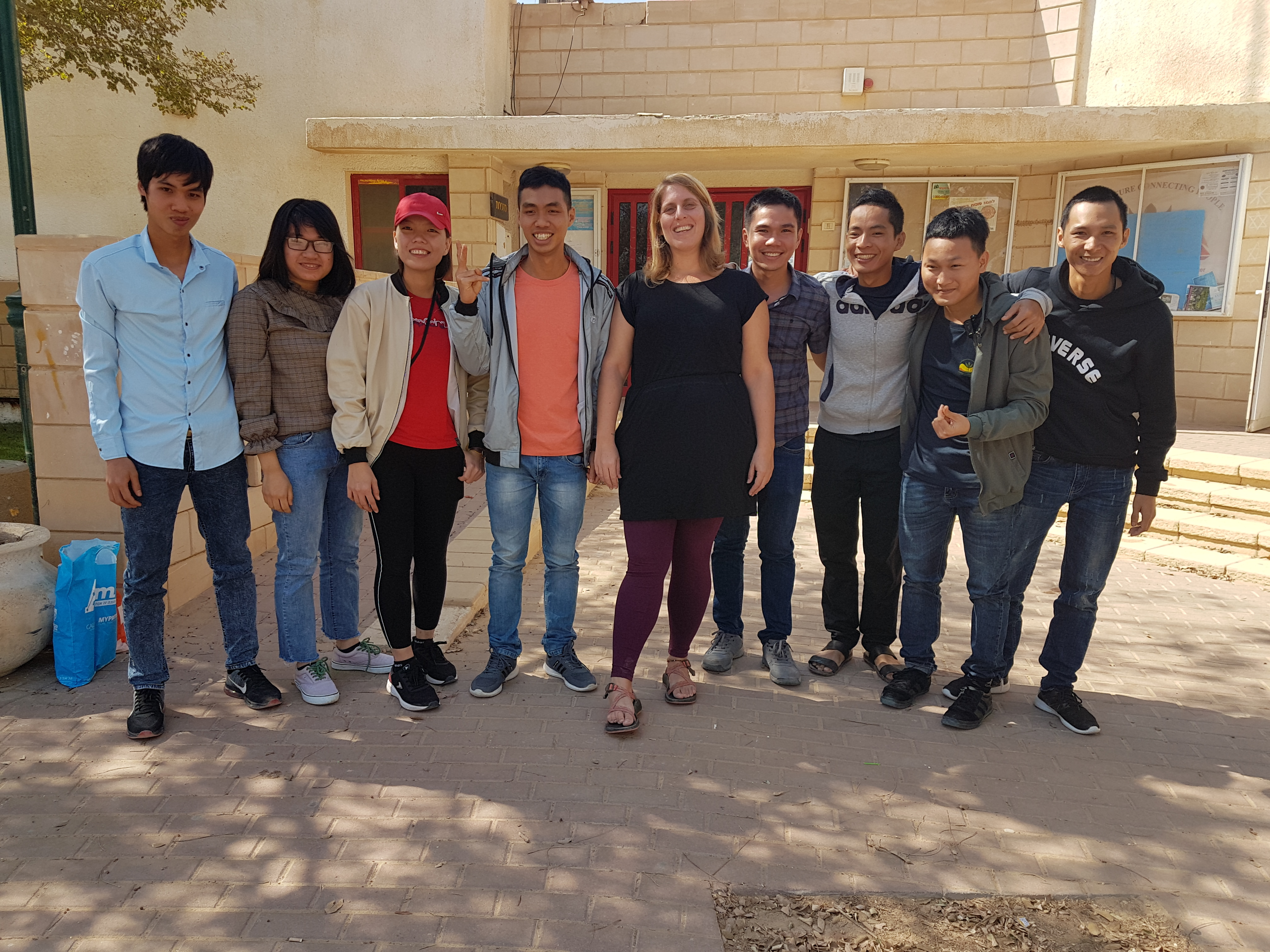 Ms. Adi Pearlman with Vietnamese students