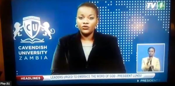 The newscaster in Zambia